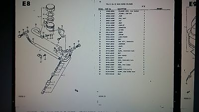 SUZUKI RG 500 PARTS LIST MANUAL CATALOGUE - PAPER COPY BOUND not PDF