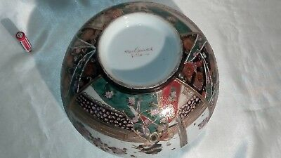 A Vintage Handpainted , Gilded & Decorated , Satsuma , Japanese Porcelain Bowl 6