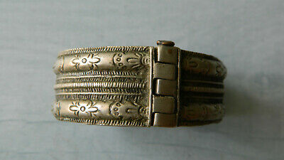 Antique Scarce 18th Century Silver Bridal Bracelet 2