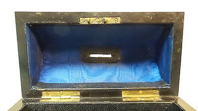 "19th C. ROSEWOOD ""ALMS"" COLLECTION BOX, BRASS TRIM & ORIGINAL KEY, c.1860-80 5"