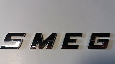 NEW GOOD QUALITY SMEG word / letters, 3D CHROME / SILVER, Self Adhesive. 8