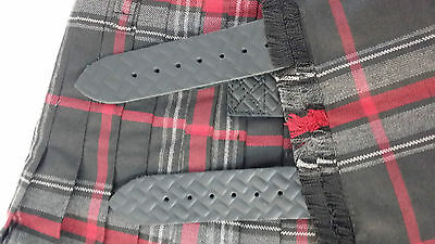 Spirit Of Bruce Modern Black Buckles 8 Yard  Kilt Only Ex Hire £99 A1 Condition 5