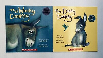 Lot 2 The Wonky Donkey + Dinky Donkey Childrens Book Bestselling World Famous! 12