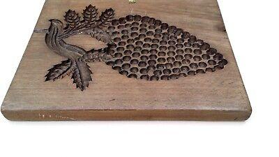 altes doppelseitiges Holz Model Springerle  Motiv Traube Korb 28 x 23 x 2,5 cm