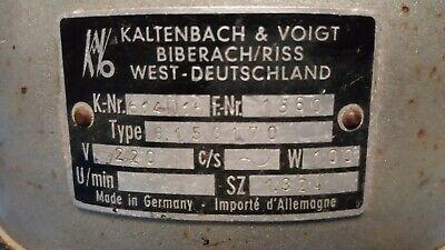 Kaltenbach & Voigt 614D16  Fußschalter  Schalter 3