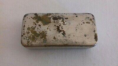 Seltene schwere antike Parke Davis & Co Made in Great Britain Tin Dose 3