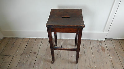 ANTiQUE / VINTAGE SCHOOL STOOL  Possibly Victorian or Edwardian 12
