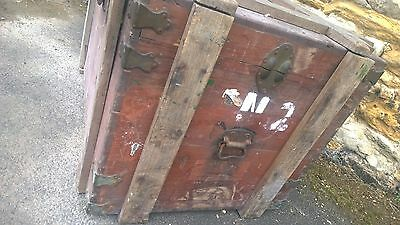 Antique Military Trunk Box Chest Army Military,Table-Theme Pub-Stage Prop 4