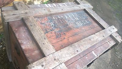 Antique Military Trunk Box Chest Army Military,Table-Theme Pub-Stage Prop 3