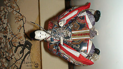 4 + 3 + 1 Antique Japanese Hina Imperial Court Empres Dolls With Gofun Faces 11