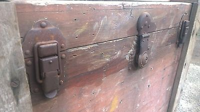 Antique Military Trunk Box Chest Army Military,Table-Theme Pub-Stage Prop 2