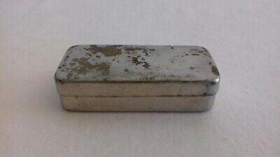 Seltene schwere antike Parke Davis & Co Made in Great Britain Tin Dose 4