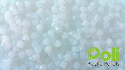 1kg White Plastic Poly Pellets. Reborn, Bear/Doll, Autism Weighted Blankets