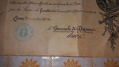 CUNEO-BRA-Diploma-FIORETTO-ESERCITO-AUTOGRAFO-GENERALE GROSSI-WW2-WORLD-ITALIA 2
