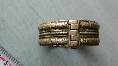 Antique Scarce 18th Century Silver Bridal Bracelet 5