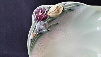 Beswick England 1711 Purple Yellow Blue Tulip Flower Bowl 2