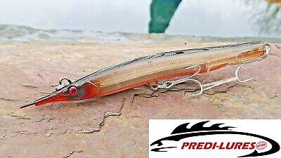 Bass Lure 125mm 20.5g Sandeel long cast level sinking pencil Ultra slim Shallow