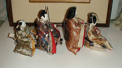 4 + 3 + 1 Antique Japanese Hina Imperial Court Empres Dolls With Gofun Faces 7
