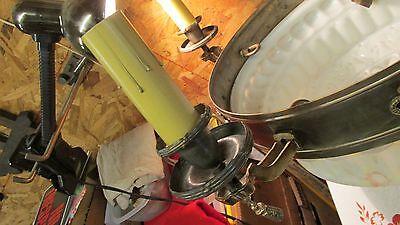 "Large Antique Brass Chandelier & 16"" Globe"