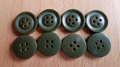 6 + 8 Knöpfe grün, Kunststoff, Durchmesser 2 cm bis 2,3 cm 3