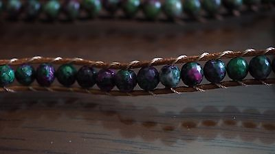 Ruby Zoisite Natural Crystal Beaded Bracelet Medley Positive Healing Ideal Gift 7