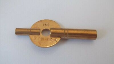 New Brass Double-ended Carriage / Travel Clock Key,Size  - 3.75 mm & 1.95 mm 2