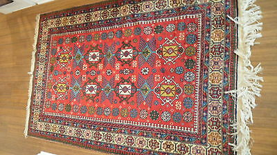 Antique Authentic 100% Wool Hand Made Knotted Vintage Kazak Rug 5