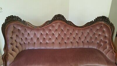 VICTORIAN JOHN HENRY BELTER ROSALIE with GRAPES SOFA GREAT CONDITION 4