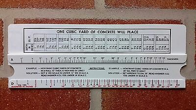 Concrete Block Wall Calculator Estimator Slide Rule Calculates CMU Qty for wall