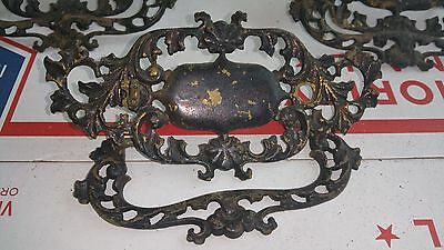"5 Ornate Antique Vintage Large Cast Brass Dresser Cabinet Pulls 6"" * 3"" 5"