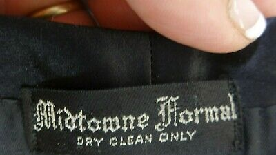 Mid-Town Formale UOMO Lana Nero Completo Tuxedo 42r 38 x 31 Pantaloni 5