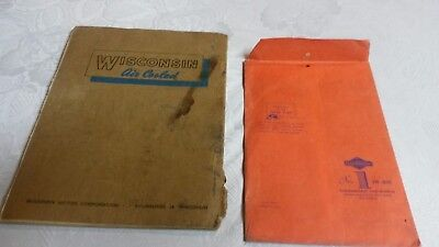 """(2) Vintage Operating Manuals """" WISCONSIN & BRIGGS  """"      Pac, 8 2"""