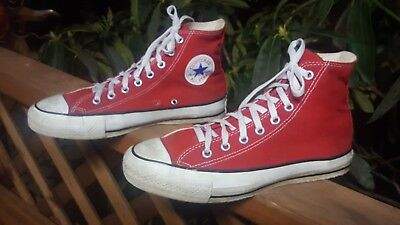 VINTAGE 90'S CONVERSE Made in USA Hi Top Red All☆Star Chuck