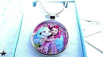 MIA AND ME CHAIN 18 INCH NECKLACE PENDANT FAIRY PRINCESS GIFT BOX BIRTHDAY PARTY