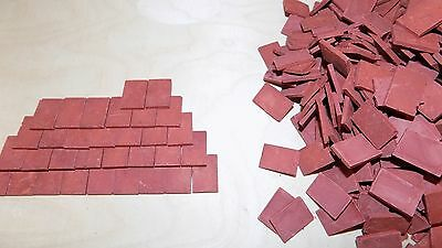 150 x  1/12th Scale  Dolls House Slate Grey or Red Roof Tiles for only £3.75 ! 2