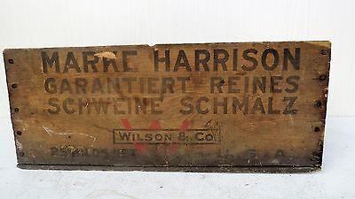 Tante Emma Laden Krämerladen alte Holzkiste Harrison Made in USA Schmalz Schwein 4
