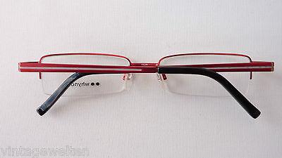 Brillenfassung rot nur Oberrand Metallgestell Halbrand unten randlos 51-18 Gr.M