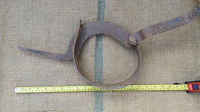 Antique Wrought Iron Straw Cutter Farm Tool 19Th Century 8