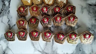 Set of 35 Original Russian RKKA VLKSM WW2 Badge USSR Red Star Soviet Lenin 4
