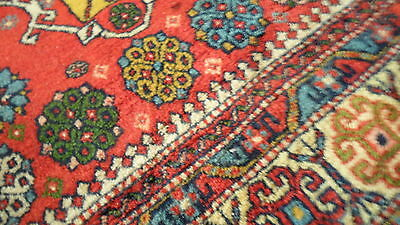 Antique Authentic 100% Wool Hand Made Knotted Vintage Kazak Rug 11