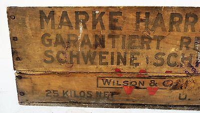 Tante Emma Laden Krämerladen alte Holzkiste Harrison Made in USA Schmalz Schwein 6