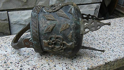 Antique 18C Islamic Middle Eastern Bronze Footed High Ornamental Floor Pot 6