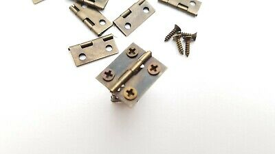 Small Hinges With Screws Bronze Jewellery Box Dolls House 2, 8, 14, 22 or 98 10