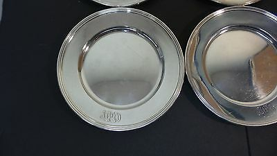 "Set/6 Whiting Mfg. Co. Sterling Silver 6"" Bread & Butter Plates, Monogram 2"