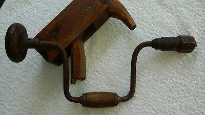 Handbohrer alt - Brustleier - Holzbohrer und Holzhobel alt , Zimmermannswerkzeug 3