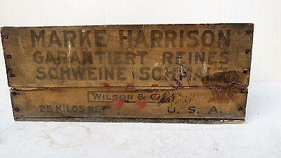 Tante Emma Laden Krämerladen alte Holzkiste Harrison Made in USA Schmalz Schwein 7