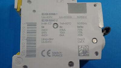 schneider acti9 ic60n a9f77216 courbe c 16 amp/ères disjoncteur 2 p/ôles