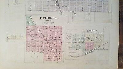 Antigüedad Mapa - Garnett,Reserva,Willis,Hamlin & Robinson - 1887 Kansas Atlas 5
