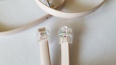 15 m 50 ft extra  longRJ25 Extension Cable 6 pin 6p6c RJ 25 Fax Makeblock compat