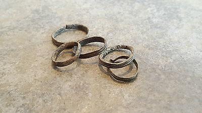 Lot of 5 Ancient Roman Bronze Hair Rings,    (#2) 2